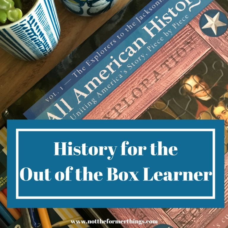 My boys need an out of the box approach to history. All American History from Bright Ideas Press has been a great option!