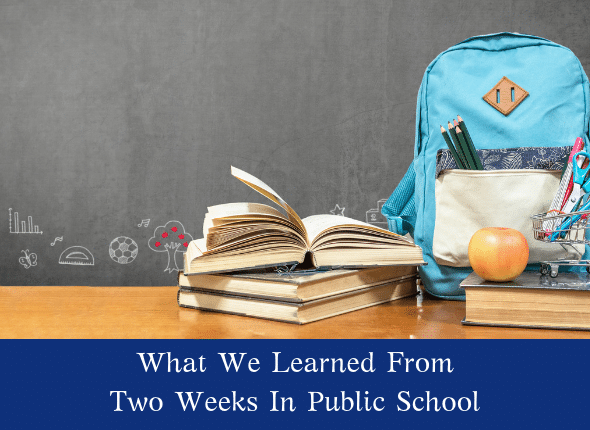 What We Learned From Two Weeks In Public School