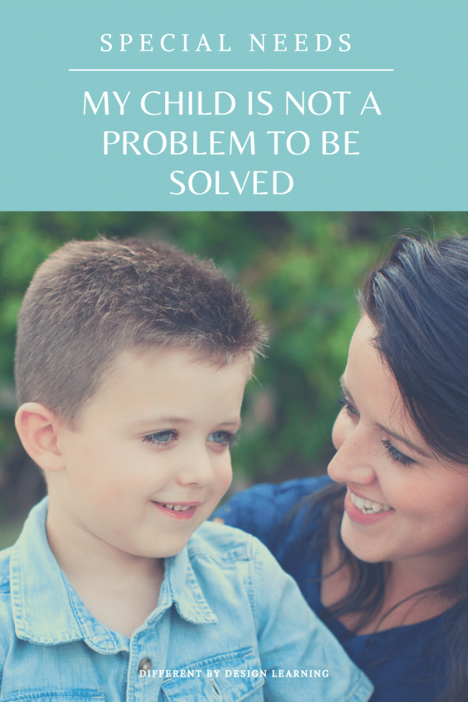 child not a problem to be solved