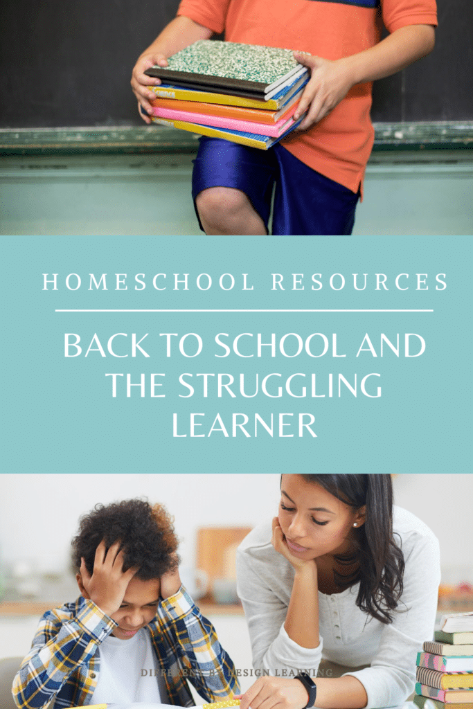 back to school and the struggling learner
