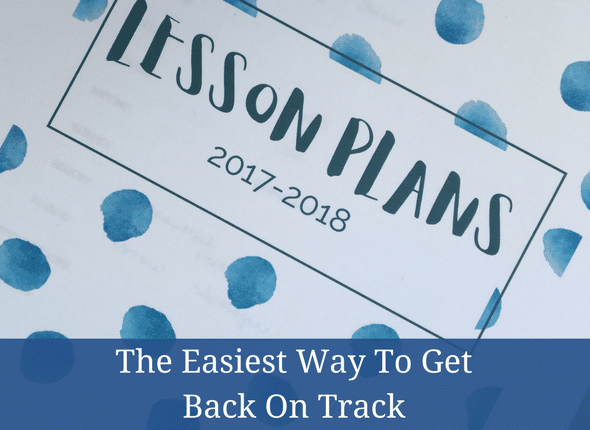 The Easiest Way To Get Back On Track
