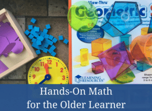Hands-On Math for the older learner #homeschool #homeschoolmom #shillermath