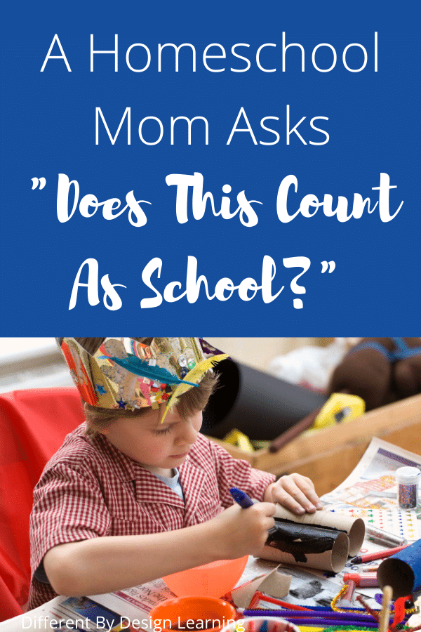 homeschool mom asks, does this count as school