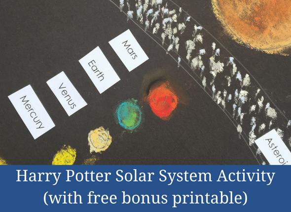 Harry Potter Solar System Activity (with free bonus printable)