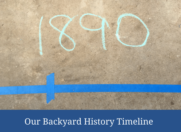 Movement and Learning: Our Backyard History Timeline