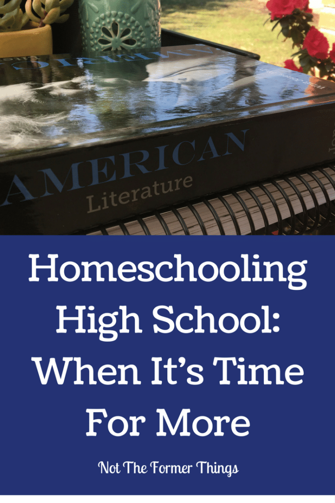 Homeschooling High School: When It's Time For More #homeschool #highschool #languagearts #apologia