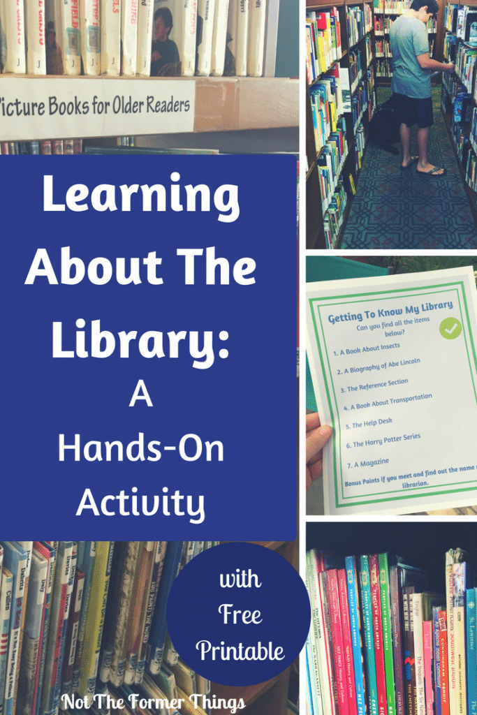 Learning About The Library: A Hands-On Activity #library #handsonlearning #kidsactivity #freeprintable