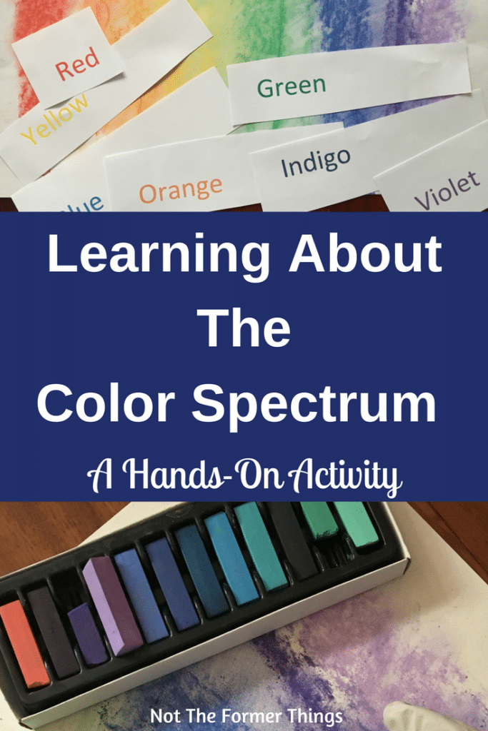 Learning About The Color Spectrum: A Hands-On Activity #kidsactivity #handsonlearning #colorspectrum #homeschoolscience