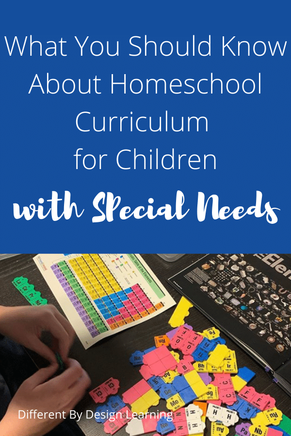 Homeschool Curriculum For Children With Special Needs