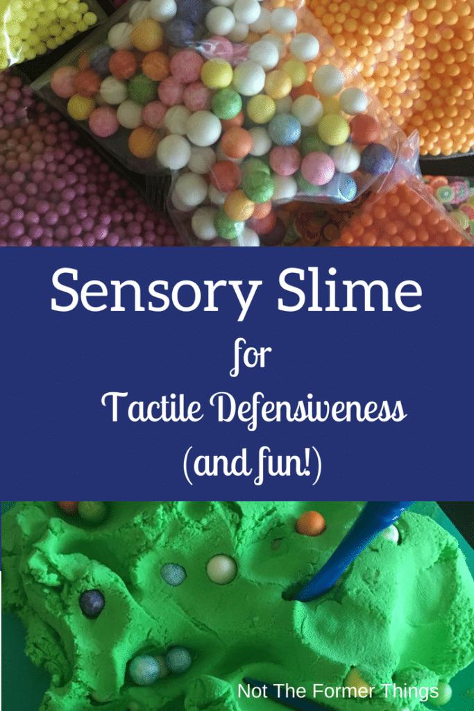 Sensory Slime Activity For Tactile Defensiveness (and having fun!) #sensorykid #sensoryactivity