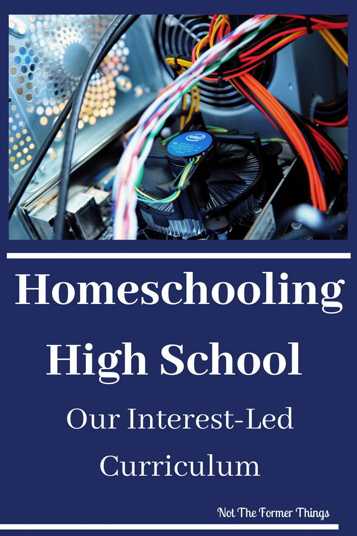 Homeschooling High School: Our Interest-Led Curriculum~Homeschooling High School: Our Interest-Led Curriculum - how we make it work for my tenth grader with learning differences | Not the Former Things