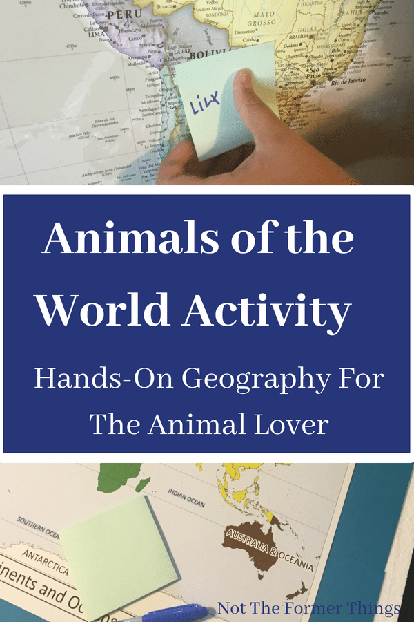 """Animals Of The World Activity: Hands-On Geography For The Animal Lover~ Animals Of The World Activity: Hands-On Geography For The Animal Lover. I almost named this post - """"What Do Post-Its, John Cena and Hands-On Learning Have in Common?""""   Not the Former Things"""