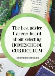 Selecting a homeschool curriculum
