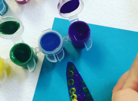 Q-Tip Painting Activity: Fine Motor and Sensory Skill Development