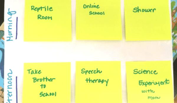 hands-on visual schedule