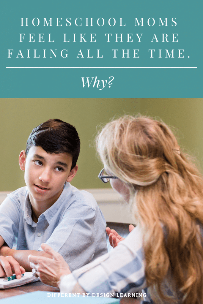 homeschool moms feel like they are failing