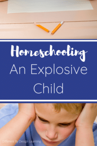 Homeschooling an explosive child