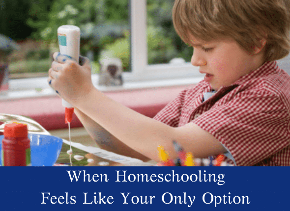 When Homeschooling Feels Like Your Only Option