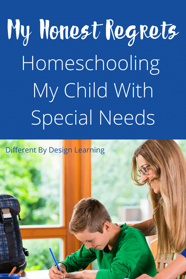 My Honest Regrets About Homeschooling My Child With Special Needs