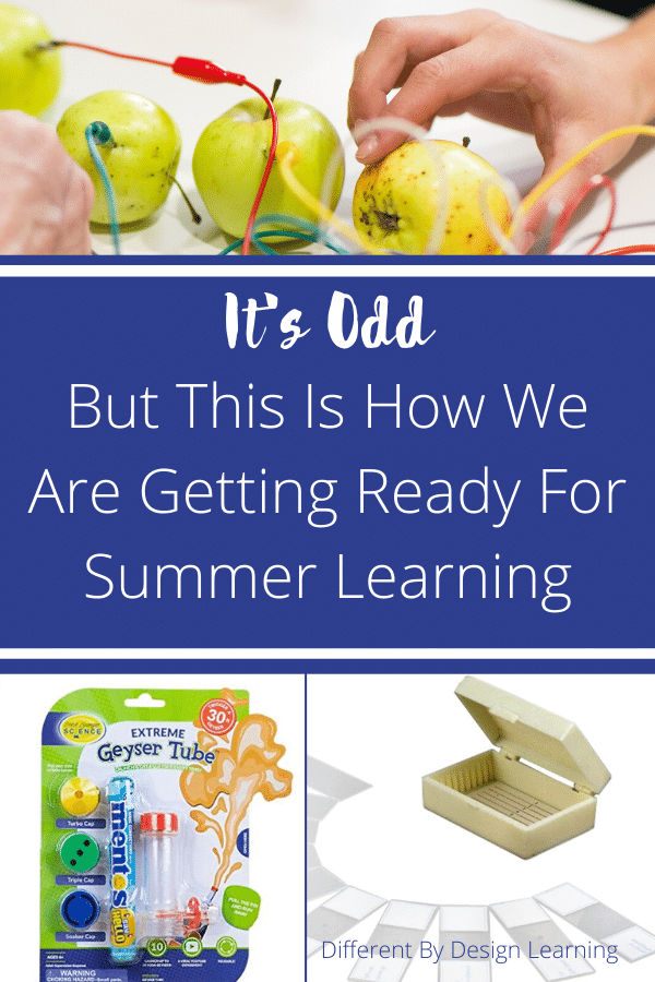 getting ready for summer learning.