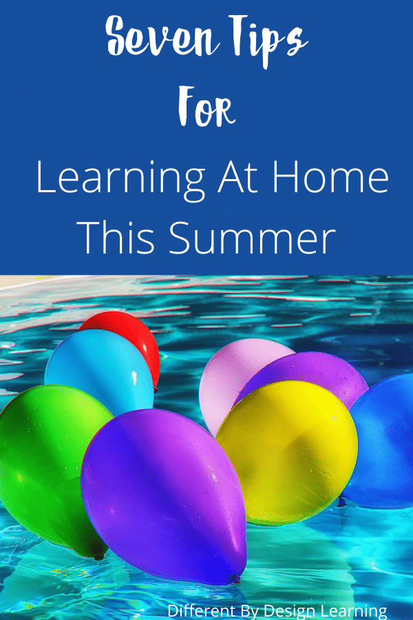 learning at home this summer
